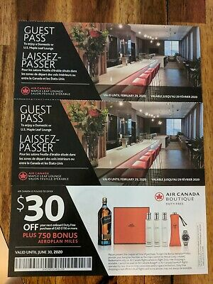 2xAir Canada Maple Leaf Lounge Pass + $30 off Air Canada Boutique Sep 3 Post