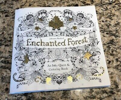 New Enchanted Forest: An Inky Quest & Coloring Book