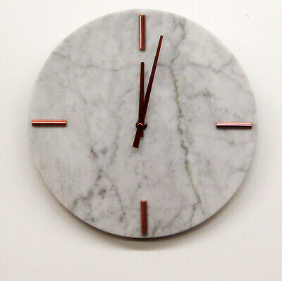 """Hermle  Hm 31002  New 12"""" All  Marble Round Non Chiming Wall Clock"""