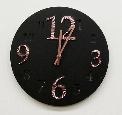 """Hermle  Hm 31001 New 12""""  Round Non Chiming Black Wall Clock Hm-31001"""