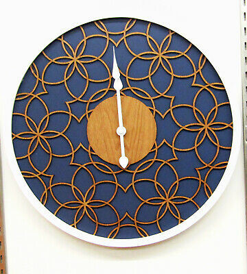 """Hermle  New 16""""  Non Chiming  Wall Clock  With Wooden Filigree Design Hm-31010"""