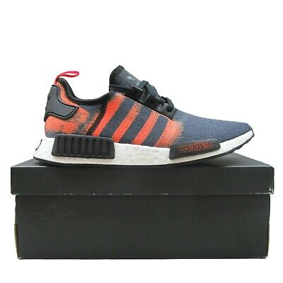 ADIDAS NMD_R1 NOMAD Boost Black Solar Red Stencil Pack