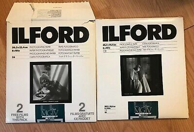 Ilford Photo Paper Multigrade IV RC Deluxe 8x10 MGD.44M 25ct Pearl Open Packs