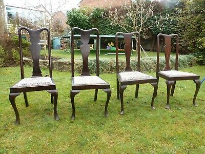 VICTORIAN/EDWARDIAN set of 4 antique dining chairs.