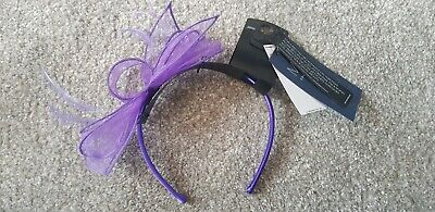 Bnwt Marks And Spencer Purple Hairband Fascinator Rrp £15