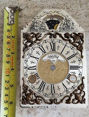 Warmink Clock Dial Moon Dial For Mantel Shelf Clock Dutch Vintage
