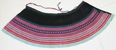 Vintage Tribal chinese miao people's original old hand batik embroidery skirt