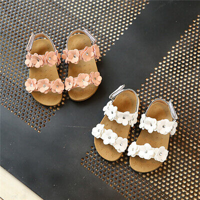 Summer Toddler Baby Girls Flower Open Toe Beach Sandals Kids Holiday Comfy Shoes