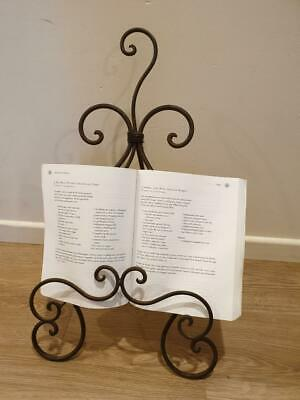 New Big Unique Vintage Style Wrought Iron Swirl Recipe/Cook Book Stand