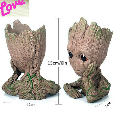 Guardians of the Galaxy Baby Groot Resin Model Figure Plant Pot Flowerpot Gift +