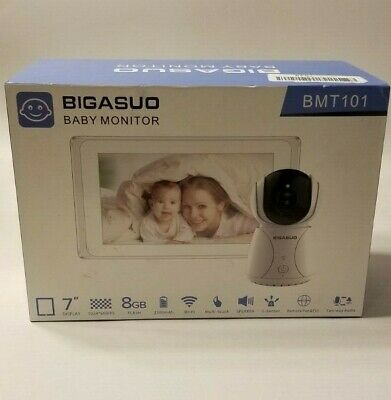 """BIGASUO Video Security Monitors & Displays Baby With Camera 7"""" Large LCD Screen"""