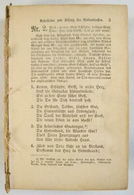 German Lieder Small Antique Book Late 1800s Christianity Church AS IS NO COVER O