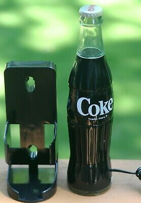 Coca Cola COKE Bottle Landline Telephone Phone + Wall Bracket WORKS Advertising