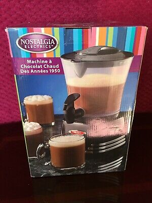 Nostalgia Electric 50's Style Hot Chocolate Maker- Black New Box