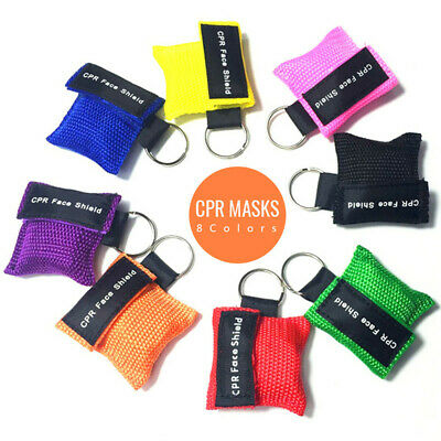Cpr Mask With Keychain Cpr Face Shield Pocket Aed 8 Colors Writing Cpr  New