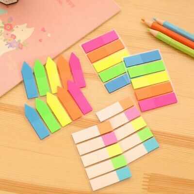 Tiger Sticky Adhesive Highlighter Index Tabs Neon Colour Flags Strips Page Maker