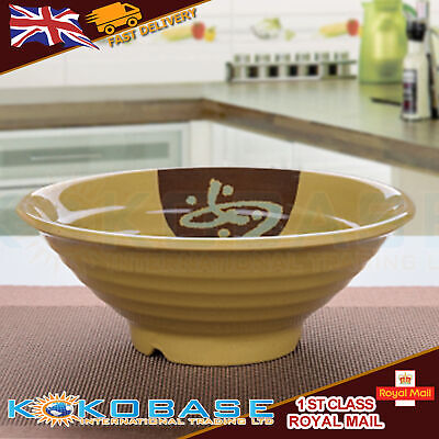 "Plastic Oriental Chinese Japanese Noodle Ramen Bowls Rice Bowls Dishes 8"" size"