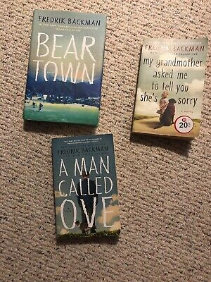 Fredrik Backman Books A Man Called Ove, Beartown, My Grandmother Asked