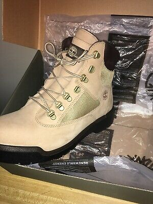 TIMBERLAND DOUBLE SOLE SAND BEIGE NUBUCK OFF WHITE MENS SIZE SIZE BOOTS AIBBL