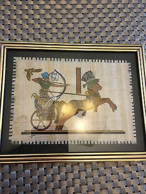 Egyption Hand Painted Genuine Papyrus - Framed Painting - Made in Egypt