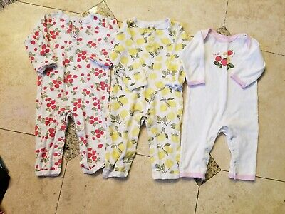 Hudson Baby Girls 1 piece Romper Fruit Outfit Lot 18 months