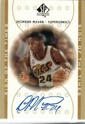 Desmond Mason Sign of the Times Upper Deck 2001