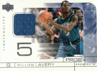 William Avery Pros & Prospects Jersey Upper Deck 2001