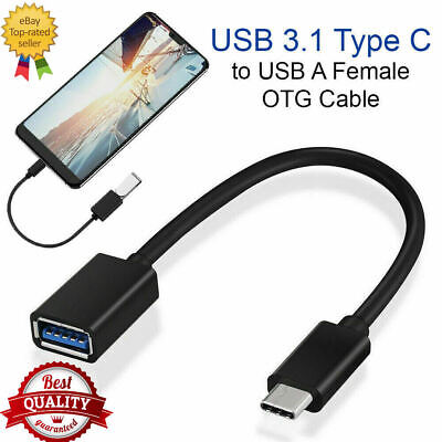 USB 3.1 Type C to USB A Female OTG On The Go USB Host Adapter Cable 16 CM