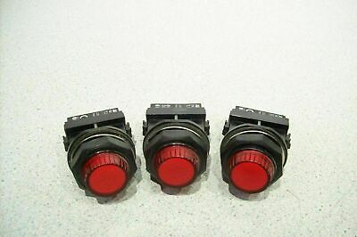 Lot of 3 ABB Panel Signal Indicator Lamp Red with Lamp Holder SK 616 003-A