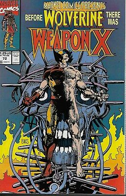 Marvel Comics Presents No.72 / 1991 Wolverine: Weapon X (Barry Windsor-Smith)