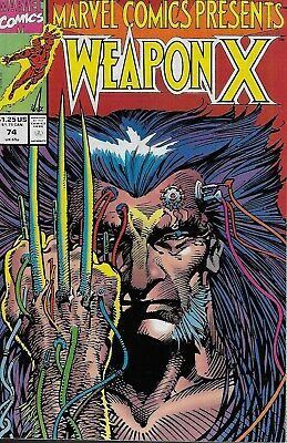 Marvel Comics Presents No.74 / 1991 Wolverine: Weapon X (Barry Windsor-Smith)