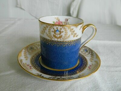 "Spode Bone China Demitasse Espresso Cup & Saucer ""Regent"" Y7575 Made in England"