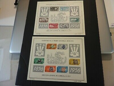 Mexico Stamps Scott #234A #896A Sheet Mint Nh Og With Matching Serial Numbers
