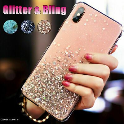 For Samsung Galaxy Note 10 Plus 5G S9 Foil Epoxy Bling Clear Soft TPU Case Cover