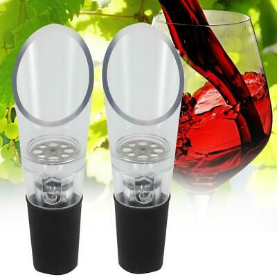 2pc White Red Wine Aerator Pour Spout Bottle Stopper Decanter Pourer Aerating SP