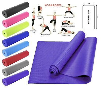 Yoga Mat for Pilates Fitness Gym Home Exercise 3mm Thick Gymnastic Non Slip Mat