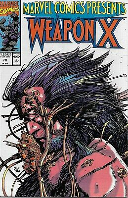 Marvel Comics Presents No.78 / 1991 Wolverine: Weapon X (Barry Windsor-Smith)