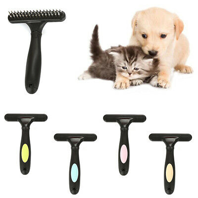 CO_ Big Pet Cat Dog Hair Shedding Trimmer Removal Brush Comb Handle Grooming Too