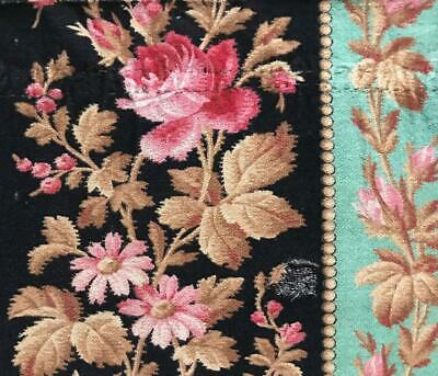 PRETTY FRAGMENT 19th CENTURY FRENCH NAPOLEON III LINEN  c1860s 454