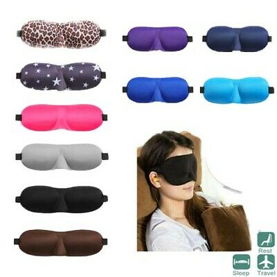Soft Padded Blindfold Blackout Eye Mask Travel Sleep Relax Aid Shade Rest Cover