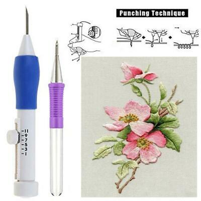 Embroidery Needle Pen Kit Set Craft Tool Thread Punch Magic DIY Knitting Tool