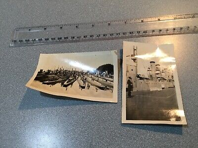 ORIG WWI or WWII  Photo submarines  S-boats US Navy pigboats 4.52x2.75