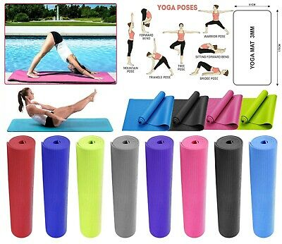 Fitex Gym Fitness Exercise Foam 3Mm Yoga Mat Non Slip Pilates Physio Workout Mat