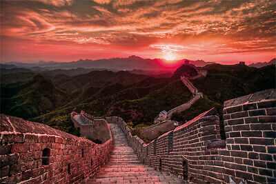 Poster The Great Wall Of China Sunset