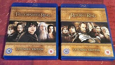 Lord of the Rings RETURN of KING & FELLOWSHIP (Extended ED BLU-RAY 5 Disc Set's)