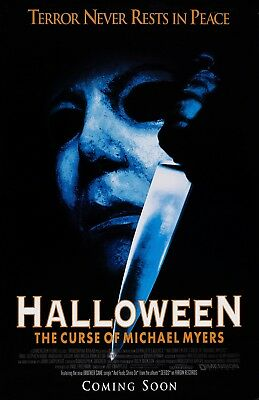 Halloween movie poster print  : 11 x 17 inches :  The Curse Of Michael Myers
