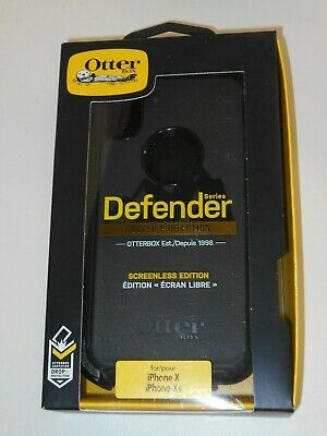OtterBox Defender Series Screenless Case for iPhone X/XS - Black - New