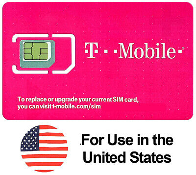 Preloaded T-Mobile SIM Card with Prepaid Plan $50 10GB 4G LTE * 60 Days *