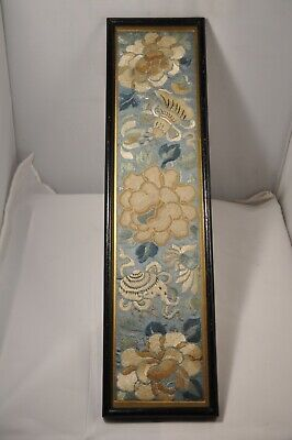 Antique Chinese Embroidered Silk Xix Broderie Chinoise Ancienne