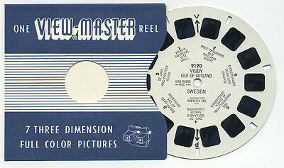 VISBY Isle of Gotland Sweden 1955 ViewMaster Single Reel 2120